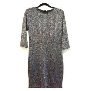 BOOHOO NIGHT metallic bodycon dress